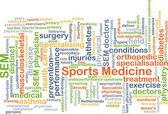 Fotografia Concetto della priorità bassa di medicina dello sport