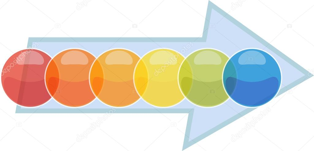Six Blank business diagram process arrow illustration