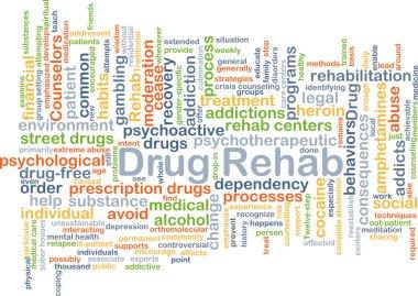 Drug rehab background concept