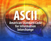 Fotografie ASCII acronym definition speech bubble illustration
