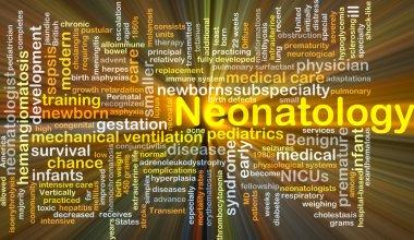 Neonatology background concept glowing