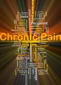 Chronická bolest pozadí koncepce zářící