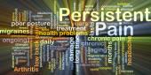 Ardore di concetto di priorità bassa di dolore persistente