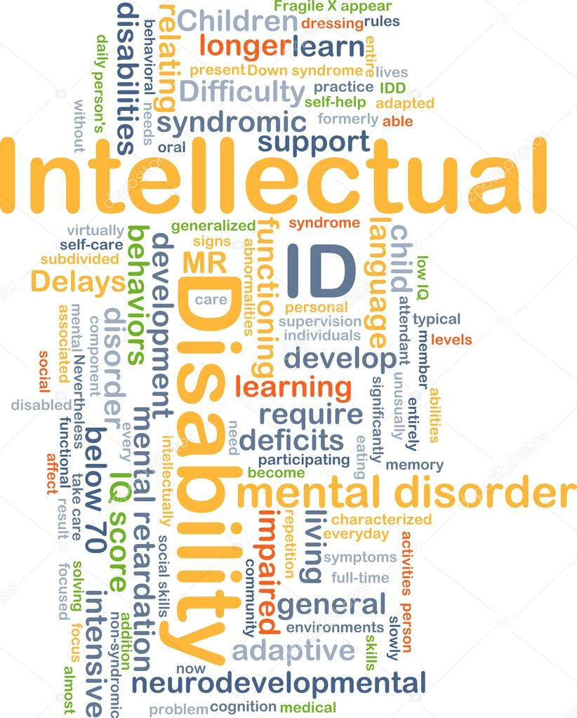 intellectual disability id background concept stock photo