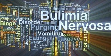 Bulimia Nervosa background concept glowing