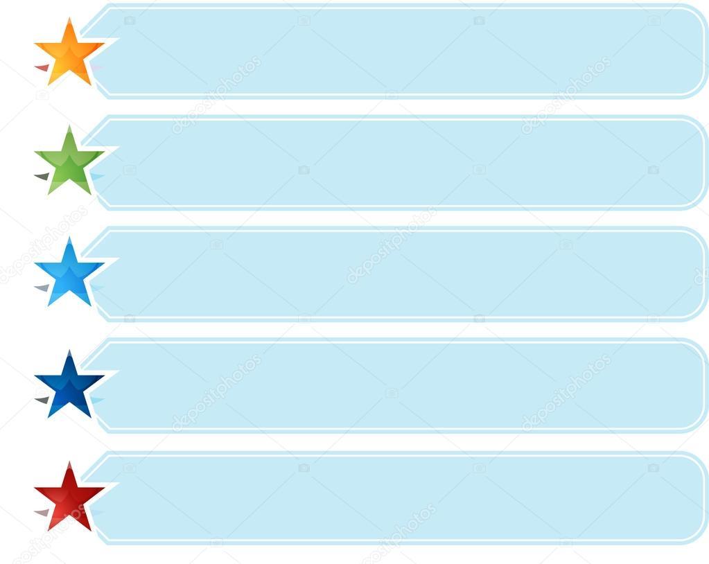 Stern-Liste Fünf leere Business-Diagrammdarstellung — Stockfoto ...