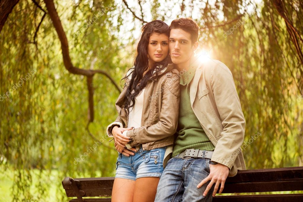 Attractive Young Couple In The Park