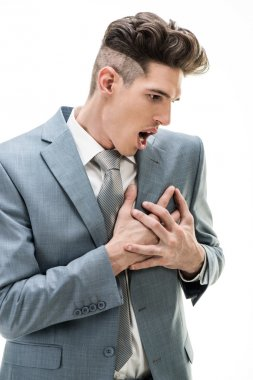 Businessman Having A Chest Pain