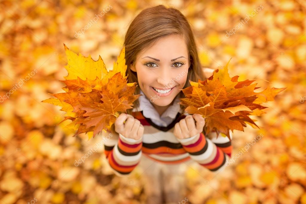 Smiling Autumn Girl