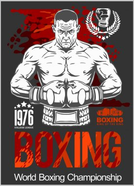 Boxing Club Logo, Emblem, Label, Badge, T-Shirt Design.
