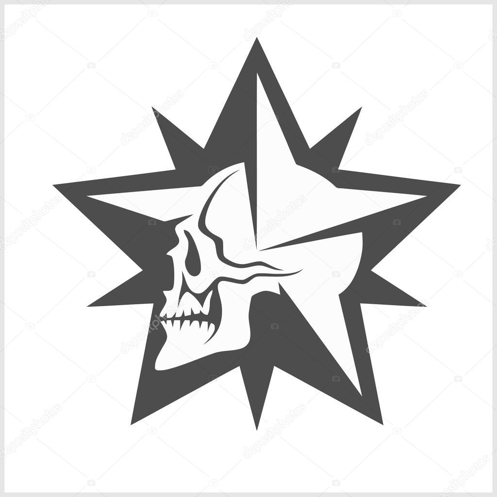 Diseno De Estrellas Estrellas Con Craneo Elemento De Vector Para
