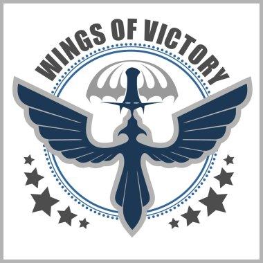 Special unit military emblem vector design template.