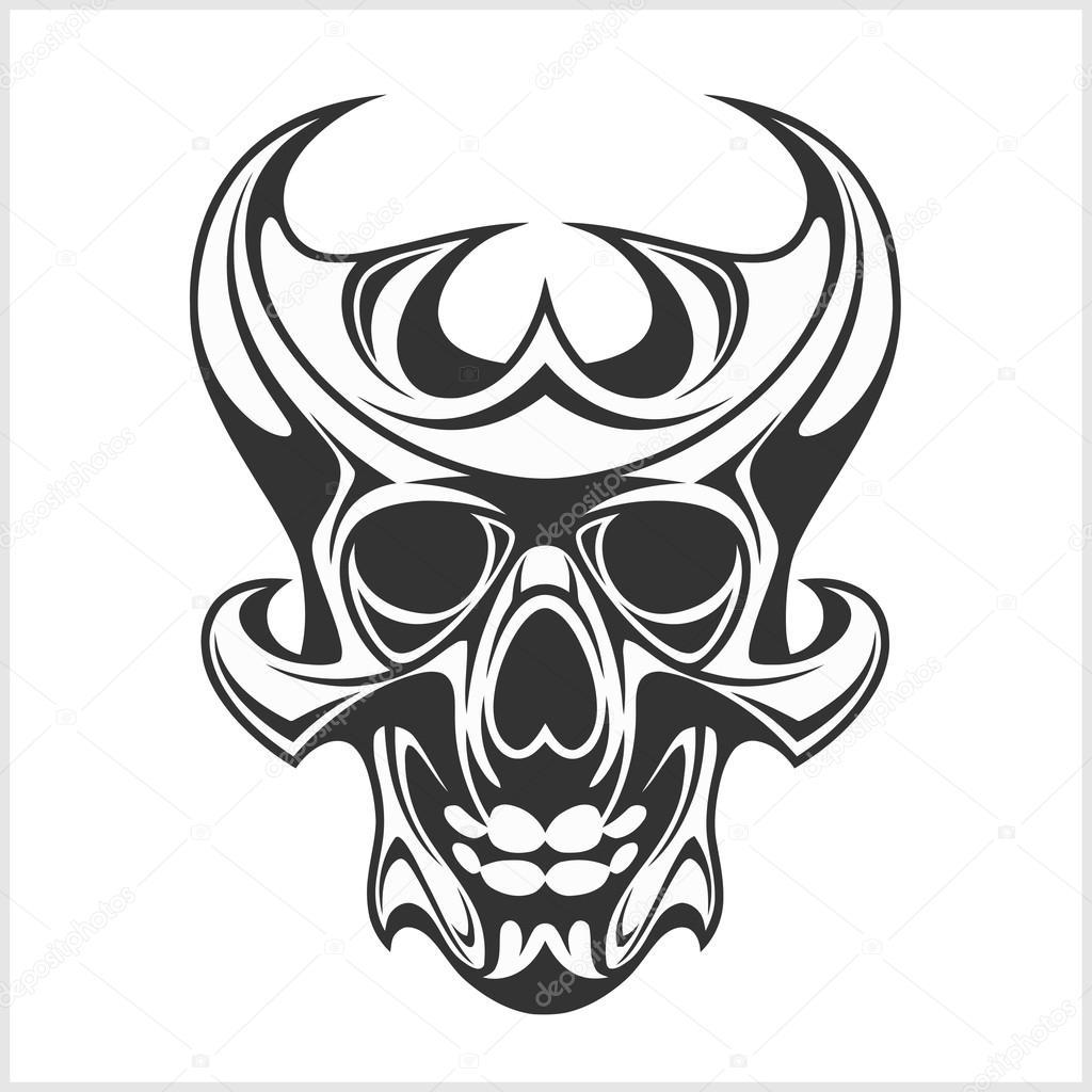 Dibujos Calaveras Tribales Cráneo Tatuajes Y Tribales Diseño