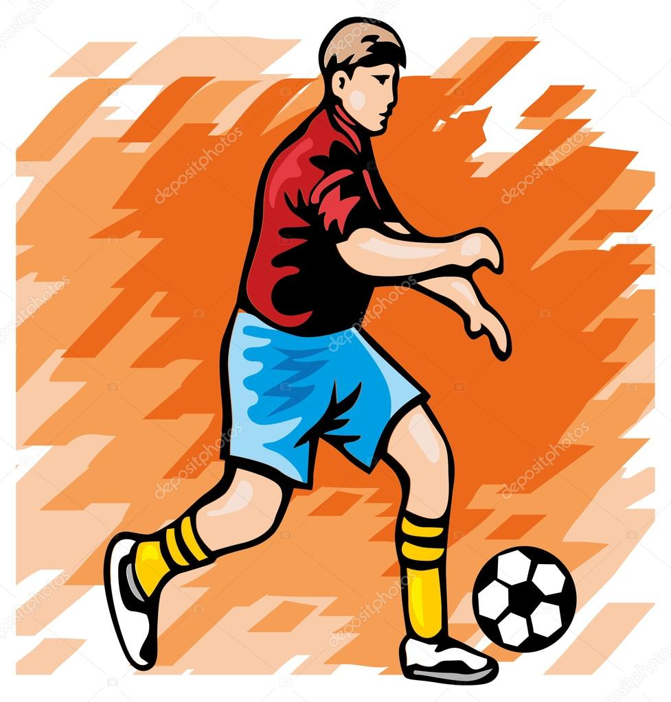 Clipart: soccer player | Football player — Stock Vector