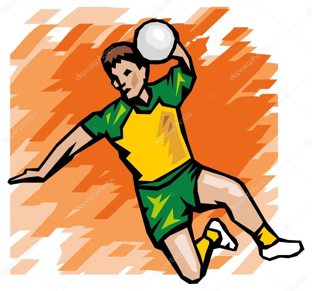 Handball illustration Stock Vector Image by ©Digital-Clipart #57537655