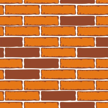 Seamless Patterns of Brick Walls. Vector stock illustration