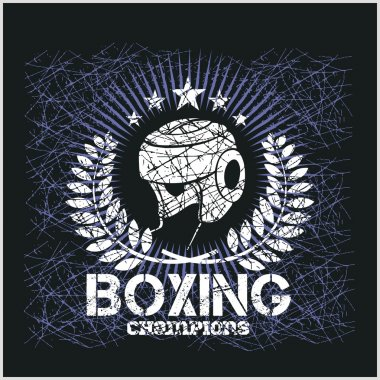 Boxing Champion - Vintage vector artwork for t-shirts