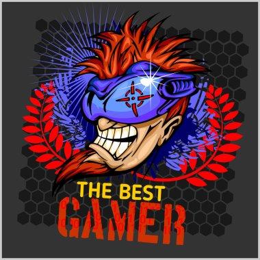 The Best Gamer -  T-Shirt Design Vector