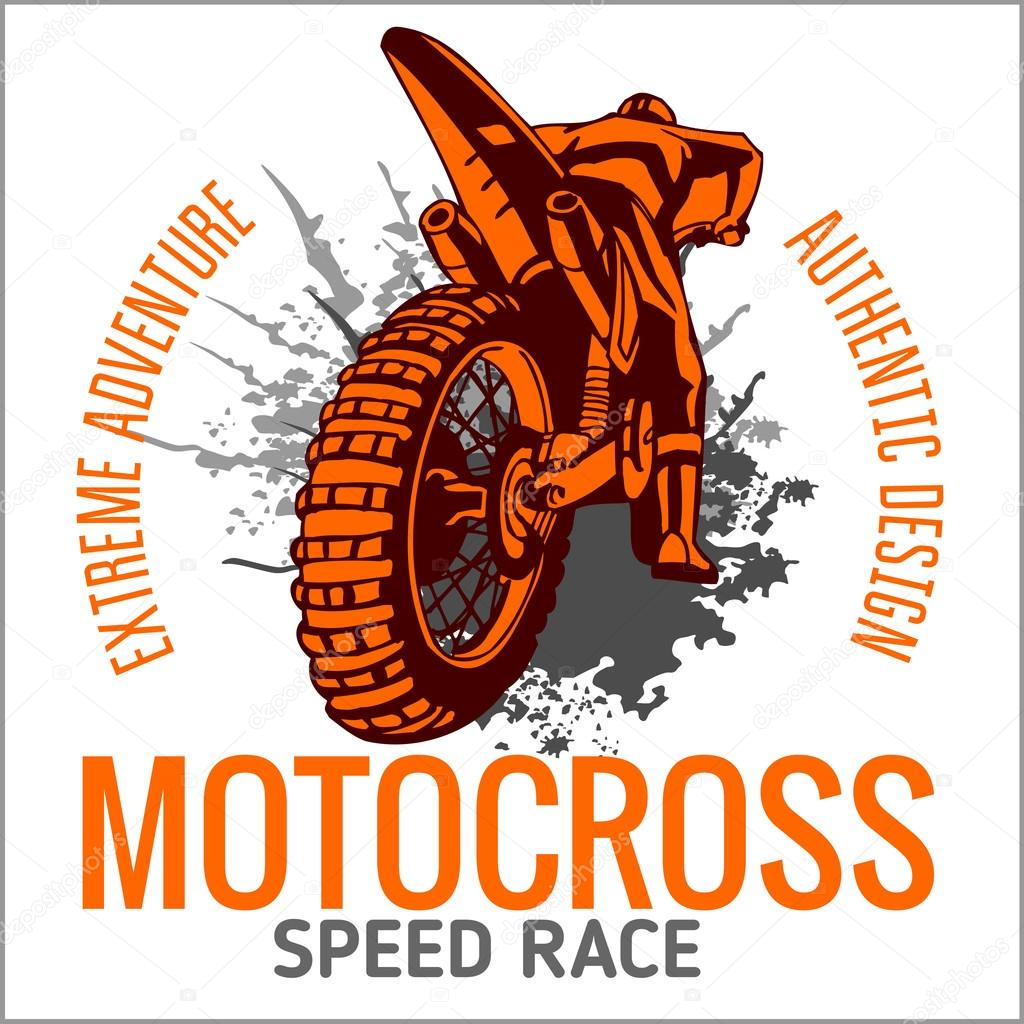 Design t shirt motocross - Motocross Sport Vector Emblem For T Shirts Vector By Digital Clipart