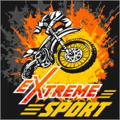 Photo Vector eXtreme sport - moto emblem.