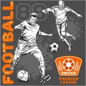 Fotbal a fotbalisty a emblémy pro sport team