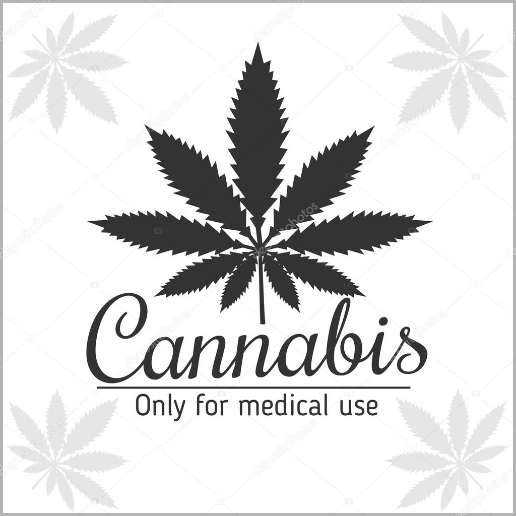 Marijuana logo - cannabis for medical use