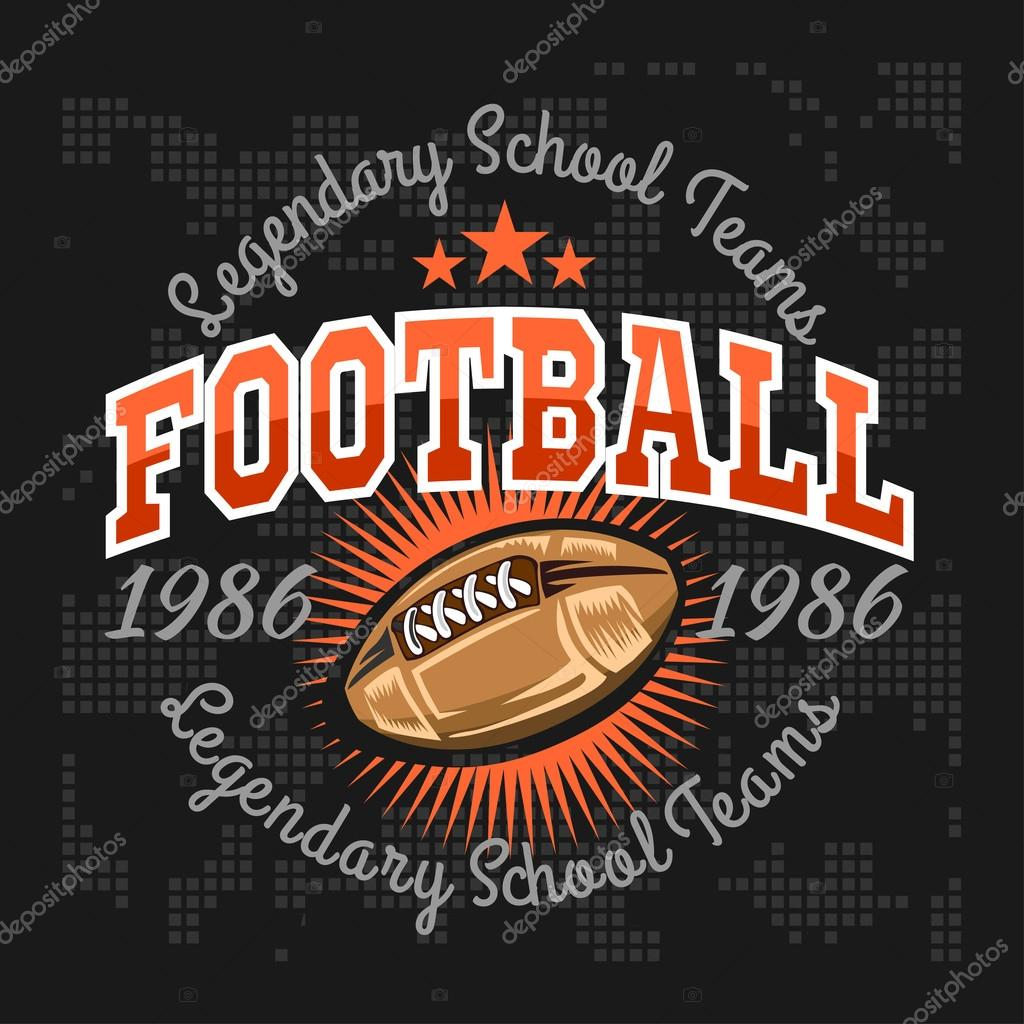 American football - vintage vector labels for poster 54cfce2f1