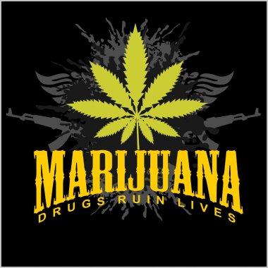 Marijuana - cannabis. Drugs Ruin Lives.