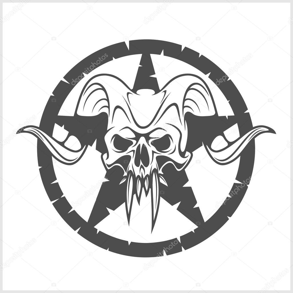Skull in Star