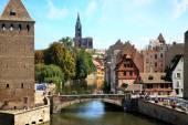 Ponts Couverts nel centro storico di Strasburgo, Francia, Alsazia