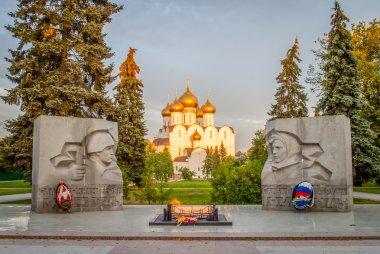The eternal fire in Memorial in Yaroslavl
