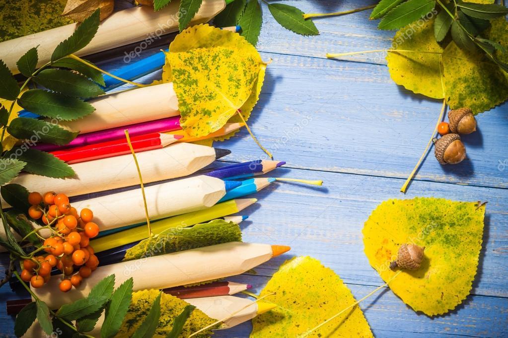 Для октября, картинки осенние школьные