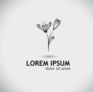Stylized flower tulip logo