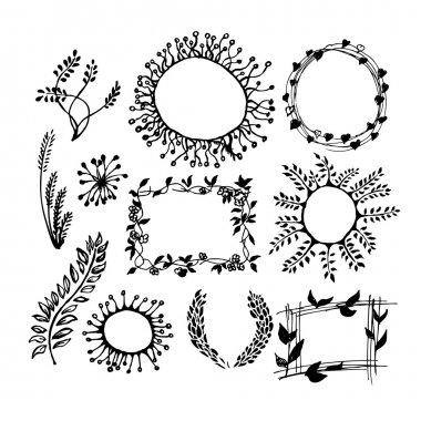 Vintage floral simple frame