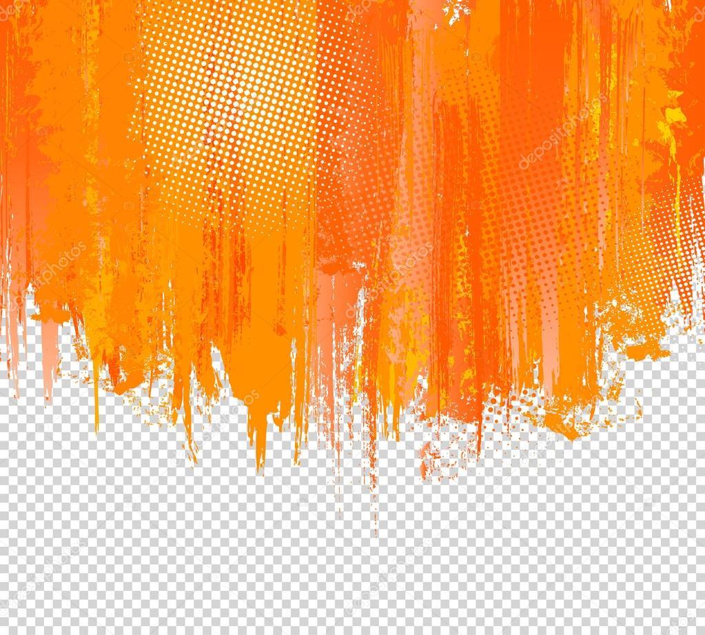 Pintura naranja grunge salpicaduras de fondo vector con - Pintura naranja pared ...