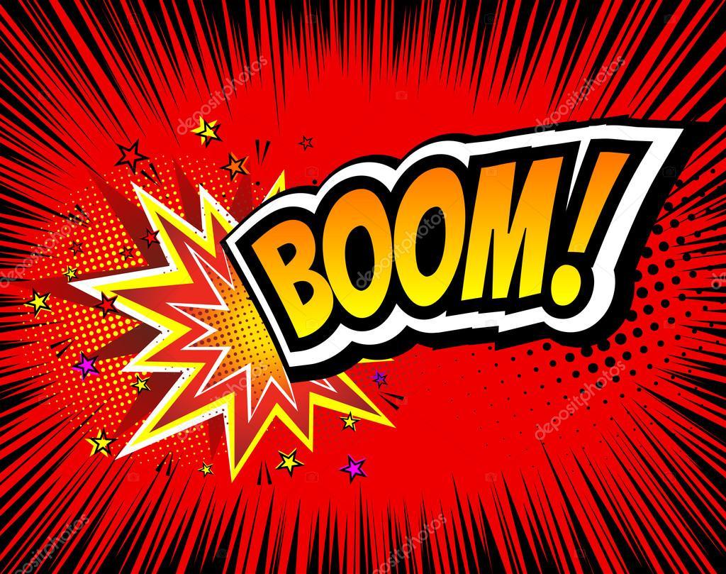 Boom vector r tro bd bulle mod le de dessin anim comics - Boom dessin anime ...