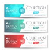 Vector Banner, Gift, Voucher Template. Clean Triangular Pattern