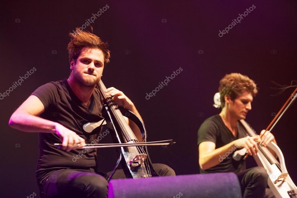 Bucharest, Romania- December 8: 2 Cellos, famous Croatian