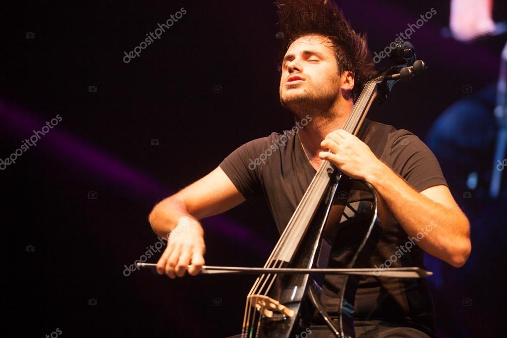 Bucharest, Romania- December 8: 2 Cellos, famous Croatian