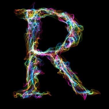Rainbow smoke letter R