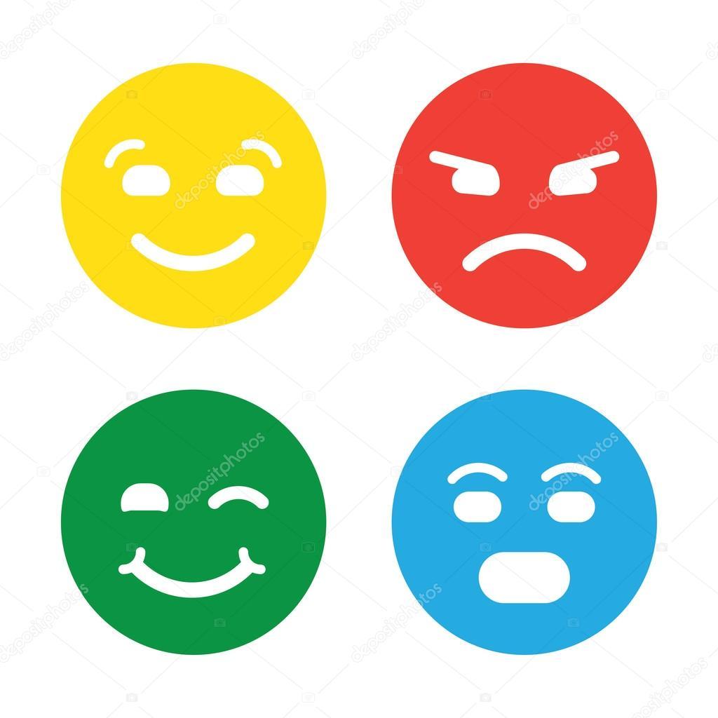 Feedback in de vorm van emoties smileys emoji - Smiley en noir et blanc ...