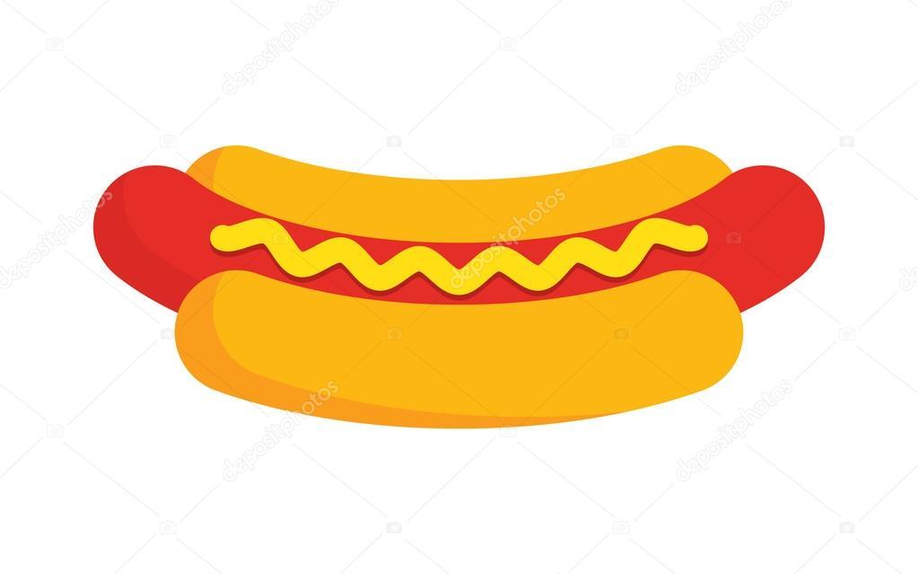 Ilustración De Dibujos Animados De Hot Dog Archivo Imágenes