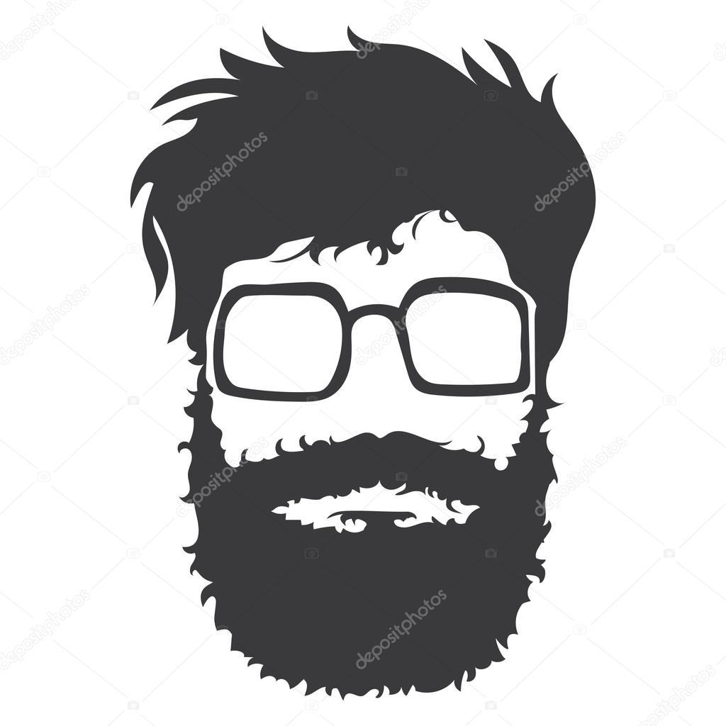 bearded man illustration � stock vector 169 makc76 66536809
