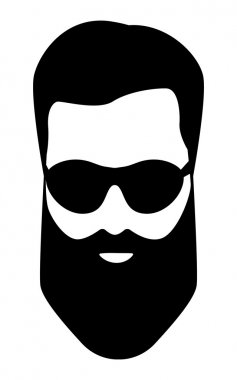 dude, Bearded man illustration
