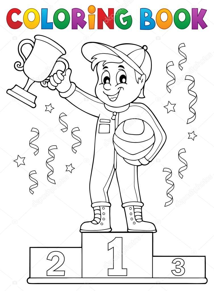 Dibujos: podio de para colorear | Tema de corredor de coches para ...
