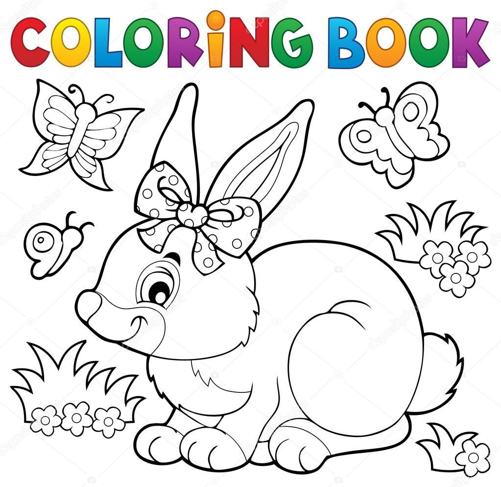 coloring book rabbit pictures : Coloring Book Rabbit Topic 3 Eps10 Vector Illustration Vector By Clairev