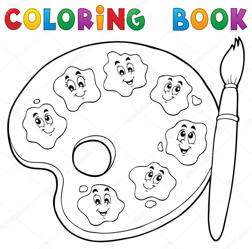Coloriage Thème De Palette Peinture Livre 2 Image