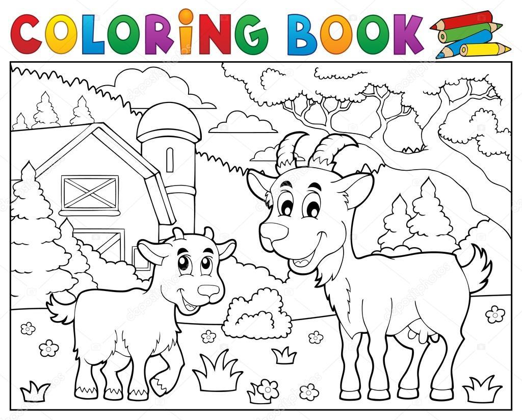 Boek Gelukkig Geiten In De Buurt Van Boerderij Kleurplaat