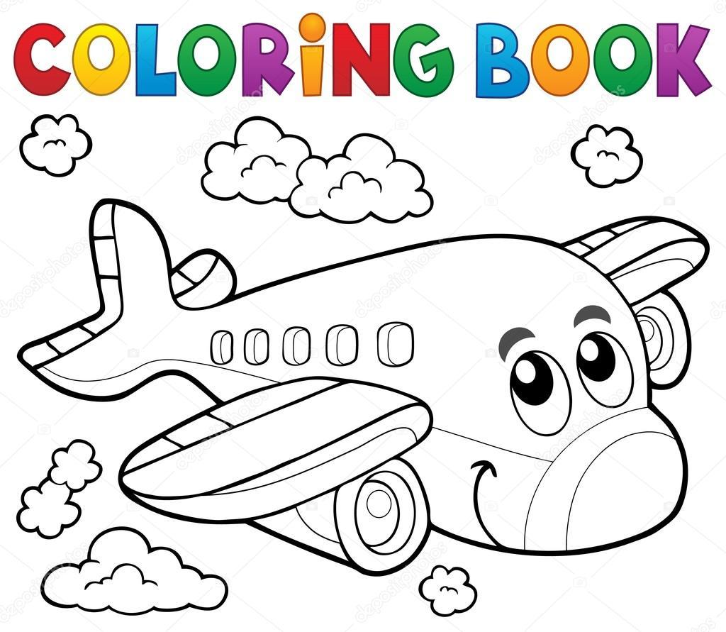 tema de avião para colorir livro 2 vetor de stock clairev 105809230