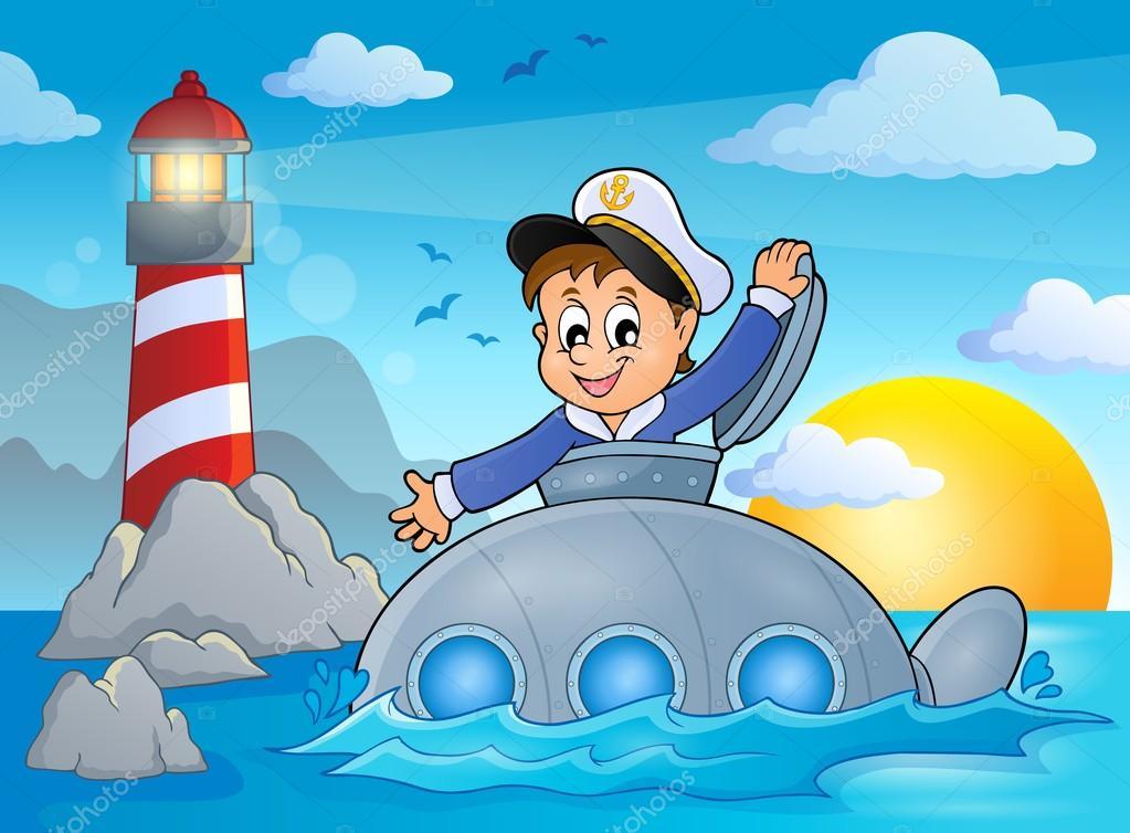 Детские картинки подводник